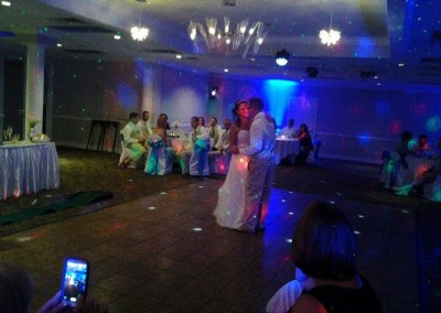 DJ Harry Wright Custom Lighting Wedding Event